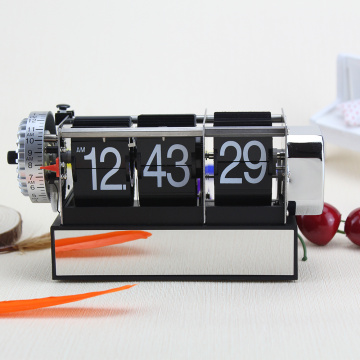 Black Dynamic Alarm Flip Clocks for Decor