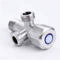Plated Stainless Steel Brass Core Angle Valve