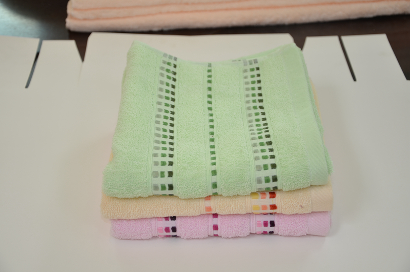 Variety of towels double satin dot towels