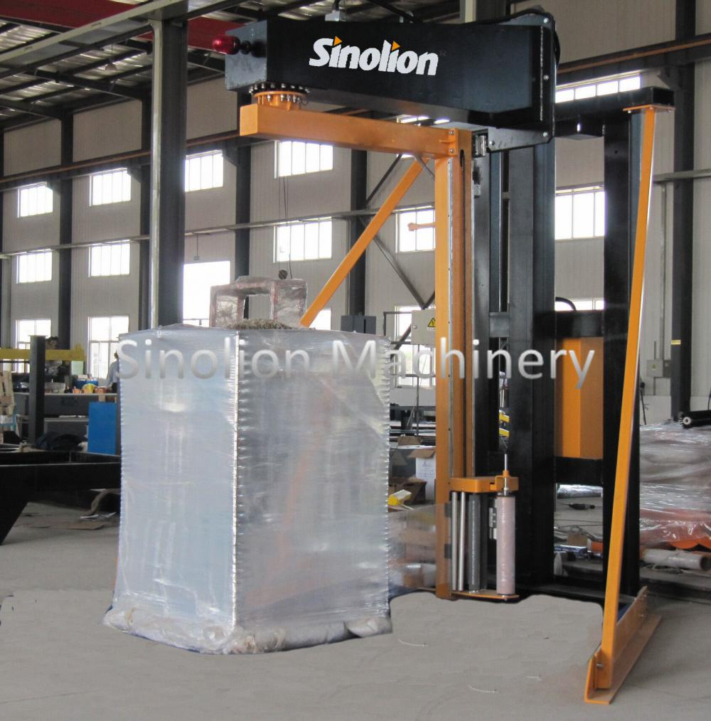 Semi-auto rotary arm lldpe stretch wrapper