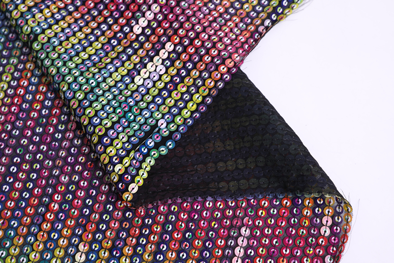 7mm Sequin Embroidery Fabric