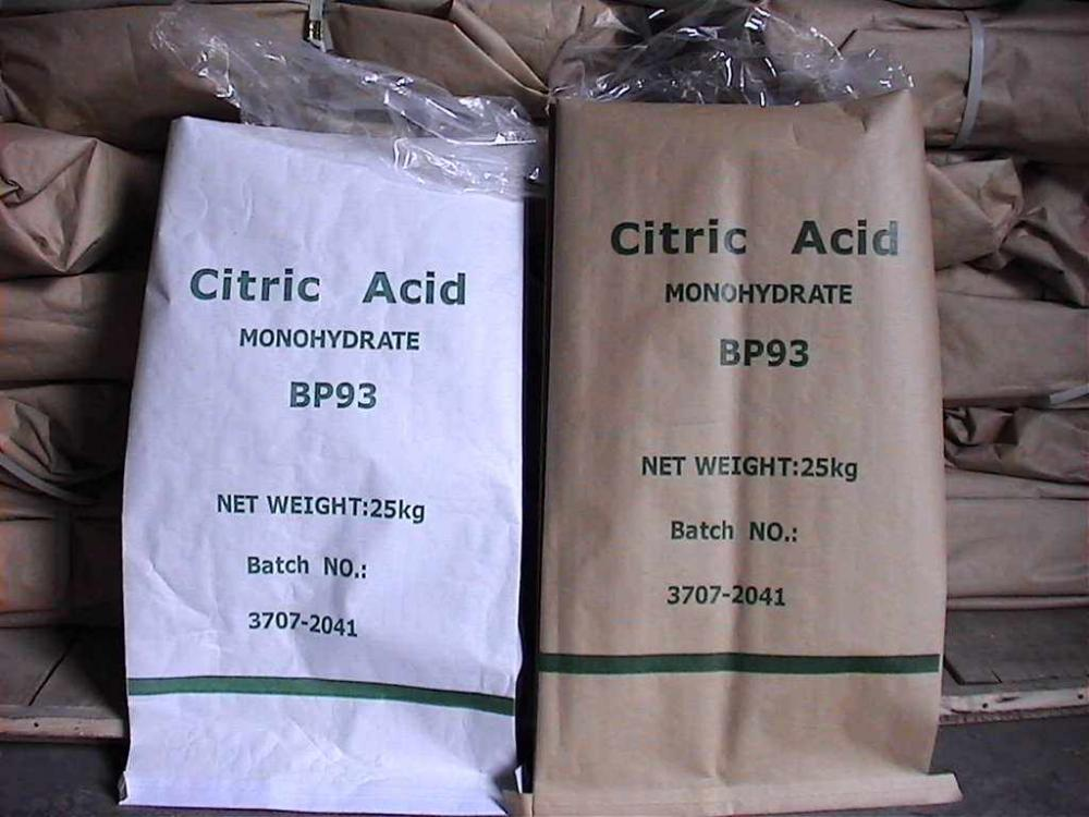 Hot sale best quality citric acid monohydrate/Hydrous  77-92-9