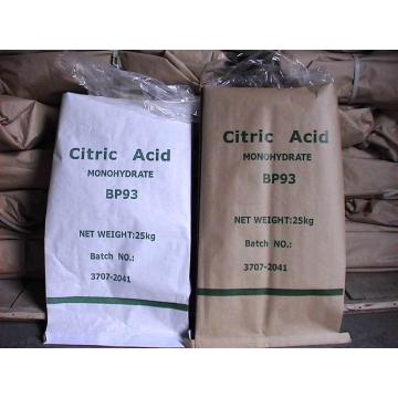 Food grade citric acid anhydrous/monohydrate