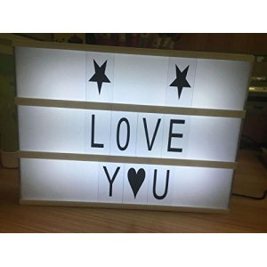 Cinema Light Box Letters sign