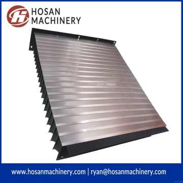 China OEM for Nylon Accordion Bellows Shield Accordion guide way shield with protective steel plate export to Niue Exporter