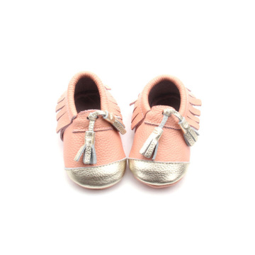 Most Popular High Design Level Leather Pink Moccasins