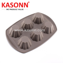 Good Quality for Silicone Mold For Cupcake Square 6 Cavity Silicone Muffin Pan export to China Taiwan Exporter