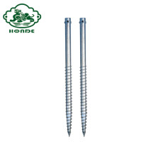 Solar Galvanized Steel Spiral Ground Anchor Screw Spike
