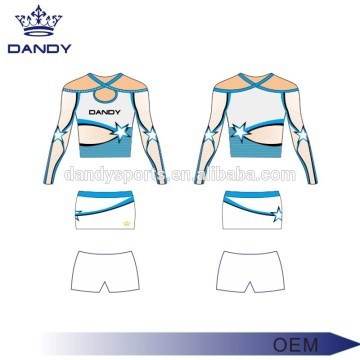 Long Top All Stars Cheerleading outfits For Kids