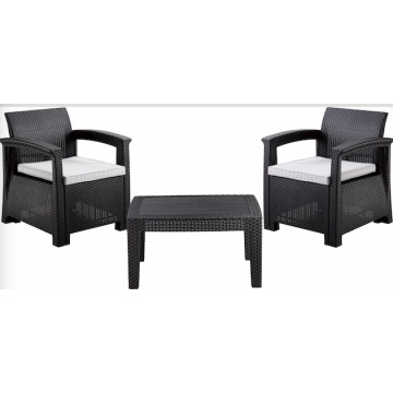2 Seaters Outdoor Plastic Sofa Set