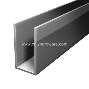 Aluminum Chrome and Nickel Glass U-Channel