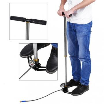 Foldable manual high pressure pcp pump 4500 psi hand pump