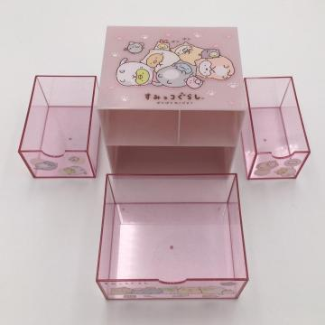 Plastic small storage box with drawer