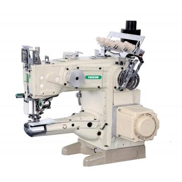 High speed cylinder bed interlock sewing machine with automatic trimmer