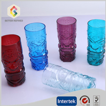 colored drinking glass cup wholesale