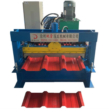 Trapezoidal roof panel aluminium sheet forming machine