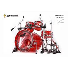 Red Acrylic Drum Set