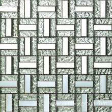 stone and glass plaid mosaic
