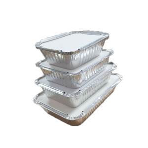 China Manufacturers for Aluminum Foil Rectangular Tableware,Aluminum Foil Rectangular Box,Foil Pan Manufacturer in China Disposable aluminum foil Container with lid supply to Italy Supplier