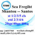 Shantou Sea Freight Logistics Services to Santos