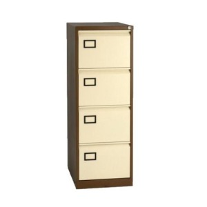 Vertical metal 4 drawer filing cabinet