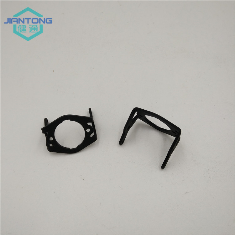 black matt anodized aluminum stamped brackets