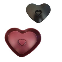 Coating colorfulbanking heart shaped bundt pan
