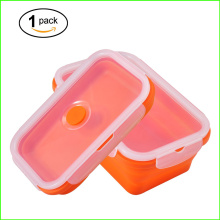 Factory Price for Rectangular Collapsible Bento Lunch Box Set,Silicone Folding Lunch Box Colorful Food Grade Silicone Lunch Bento Box export to Nigeria Factory