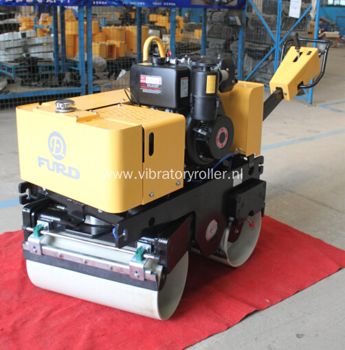 800KG Walk Behind Double Drum Vibratory Roller