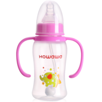 Infant Milk Feeding Bottle With Handle 5oz