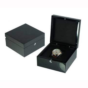 Black Gift Box Single Wooden Watch Box