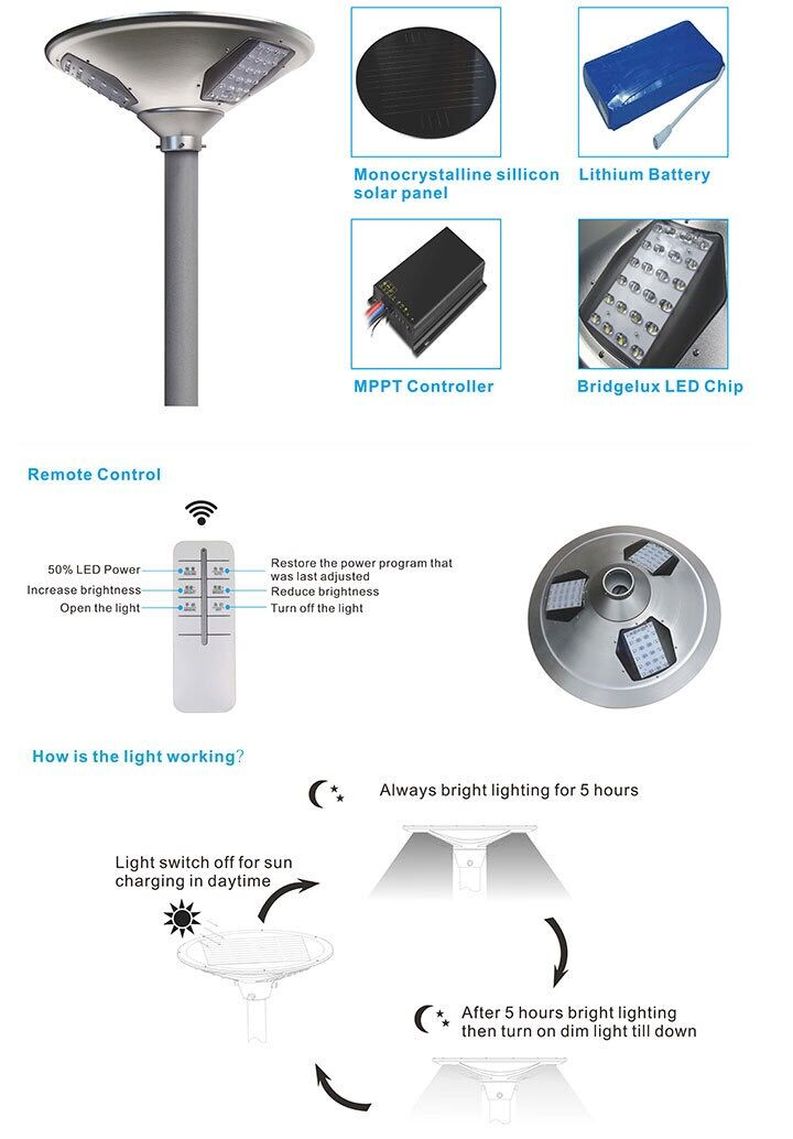 ufo integrated solar street light delight eco energy