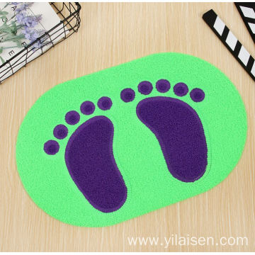 Sale well foam backing loop design PVC mat