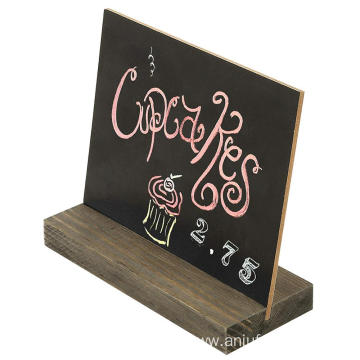 Mini Tabletop Chalkboard Signs with Rustic Wood Stands