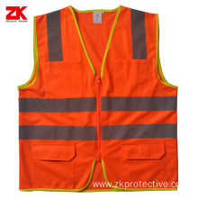 Shot sleeve road reflective vest
