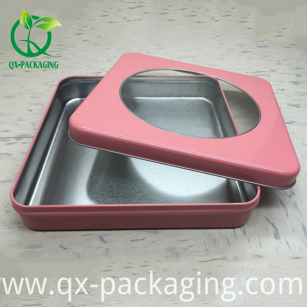Cosmetic Tin Box With Window