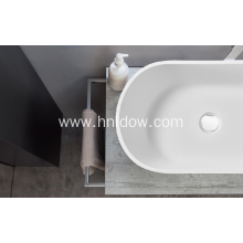 High Quality White Solid Surface Cabinet Wash Basin