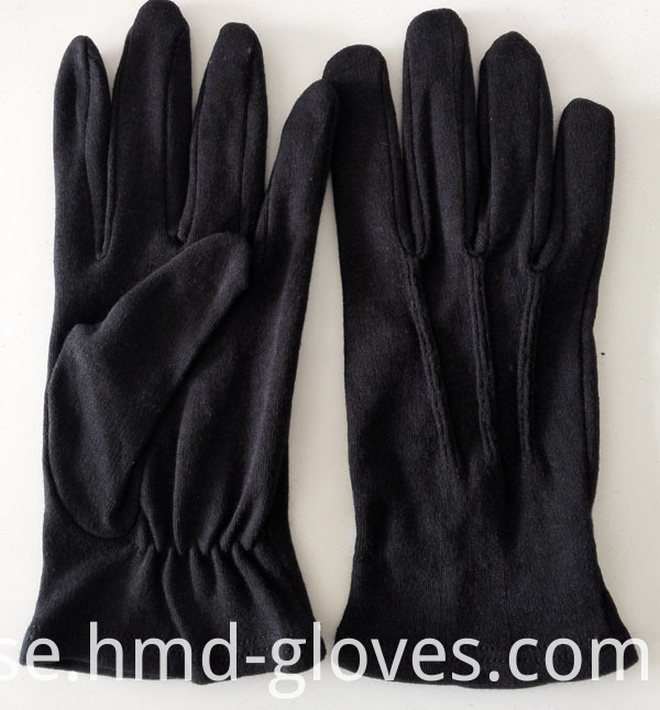 100% Cotton Gloves for Marching Band Black