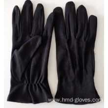 Ladies Lady Black Cotton Gloves