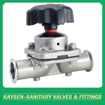 Sanitary Direct Way Diaphragm Valves with Tri-clamp Ends
