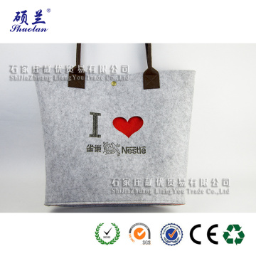 Good quality customized logo felt tote bag