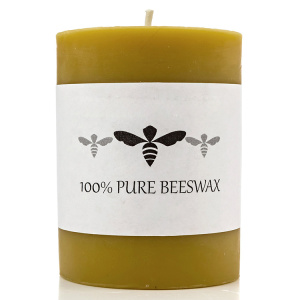 4inch Beeswax 100% Pure Raw Beeswax Pillar Candle