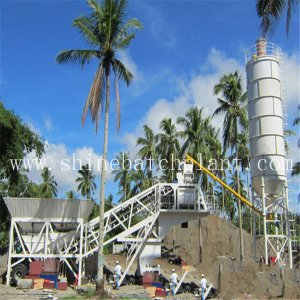 China for Mobile Concrete Plant Automatic 30 Mobile Concrete Mix Plants supply to Germany Factory