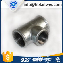 NPT galvanized beaded tee M.I. pipe fittings