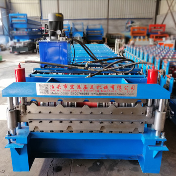 Color Steel Double Tile Making Machine for Roof
