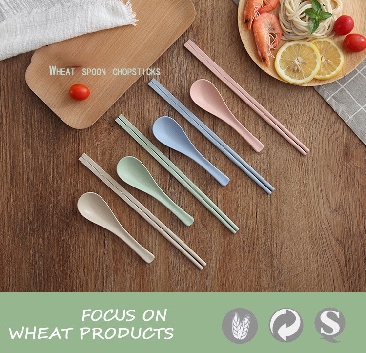 Wheat Round Plastic Spoon