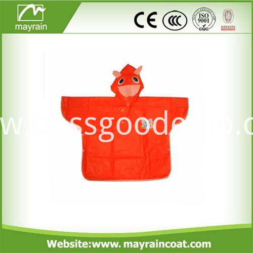 Hooded Cartoon Poncho (2)