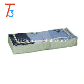 Underbed pvc coated canvas bag for Clothing Quilt