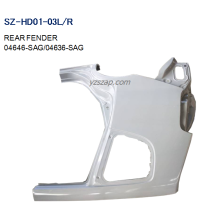 China for REAR Fenders For HONDA Steel Body Autoparts Honda 2003 FIT/JAZZ Rear Fender export to Seychelles Exporter