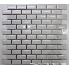 Small Brick White Glazed Polished Porcelain Mosaic